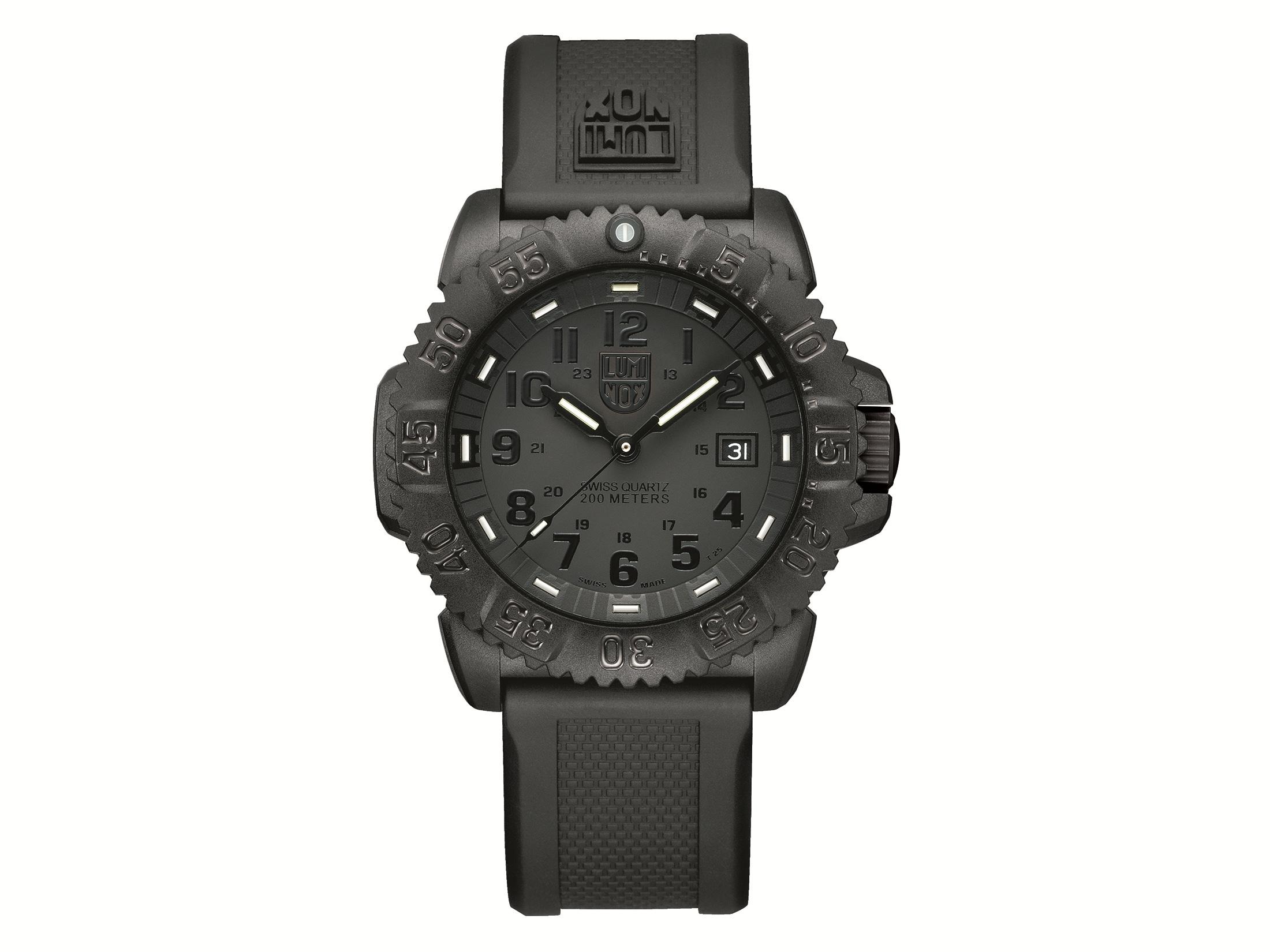 4e98ba6f4 Luminox Navy SEAL Colormark Watch Blackout
