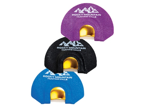 Rocky Mountain Hunting Calls Golden Tone Plate Diaphragm Elk Call Pack of 3