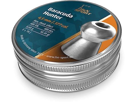 H&N Baracuda Hunter Pellets 177 Caliber 10.49 Grain 4.5mm Head-Size Hollow Point Tin of...
