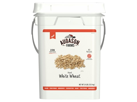 Augason Farms Hard White Wheat Emergency Food Storage 26 Pound