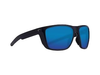 Costa Del Mar Ferg Polarized Sunglasses Matte Black Frame/Blue Mirror Lens