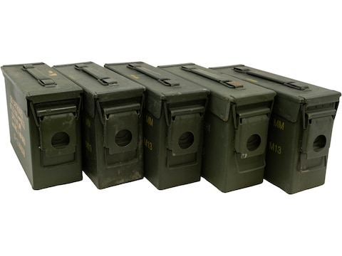 Military Surplus Ammo Can 30 Caliber Grade 2 Package of 5
