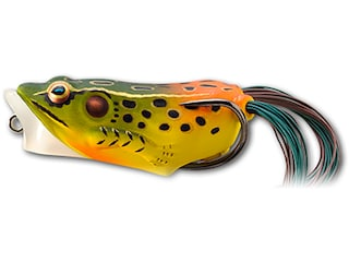 LIVETARGET Hollow Body Frog Popper 2 Topwater Emerald/Red