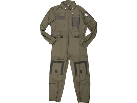 Military Surplus Italian Aramid Flight Coverall Olive Drab