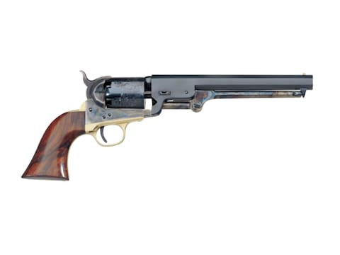 "Uberti 1851 Navy Black Powder Revolver 36 Caliber 7.5"" Barrel Case Hardened Frame Blue"