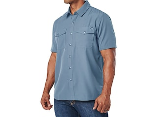 5.11 Men's Marksman Short Sleeve Shirt Gray Blue Large