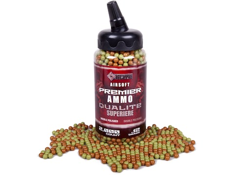 Game Face Premier 6mm Airsoft BB .12 Gram Camo Pack of 2,000