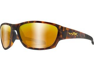 Wiley X Climb Polarized Sunglasses Gloss Tortoise Frame/Captivate Bronze Mirror Lens