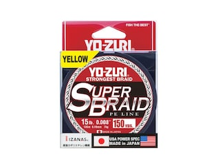 Yo-Zuri Superbraid Braided Fishing Line 15lb 150yd High-Vis Yellow