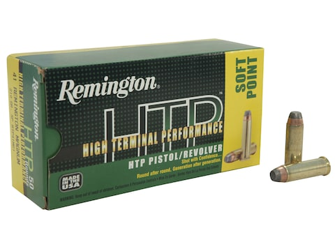 Remington High Terminal Performance (HTP) Ammunition 41 Remington Magnum 210 Grain Jack...