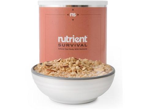 Nutrient Survival Maple Almond Grain Crunch Freeze Dried Food 12 Serving