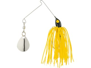 Strike King Micro-King Single Colorado Spinnerbait 1/16oz Black Head Yellow Skirt Nickel