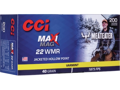 CCI Maxi-Mag MeatEater Special Edition Ammunition 22 Winchester Magnum Rimfire (WMR) 40...