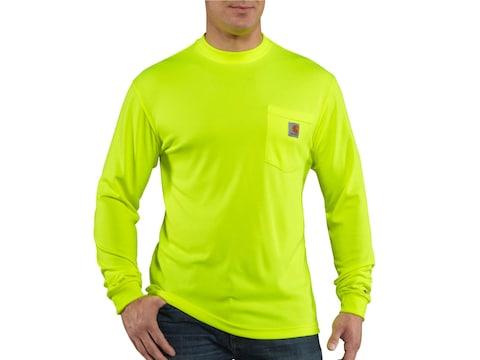 Carhartt Men's HV Force Color Enhanced Long Sleeve T-Shirt Polyester