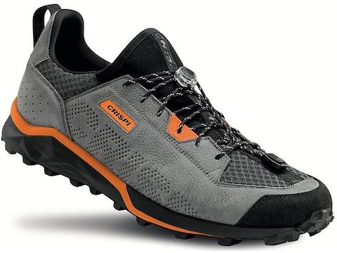 Crispi Attiva Hiking Shoes Suede/Synthetic Gray/Orange Men's