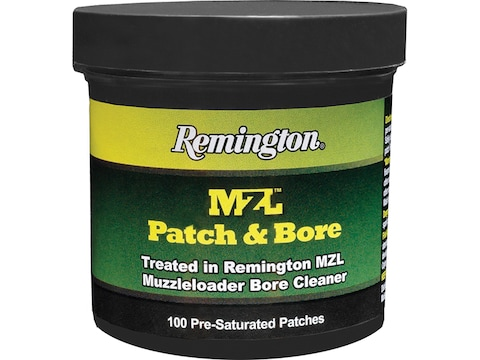 """Remington MZL Patch & Bore Cleaner 2.25"""" Pre-Saturated Patches Pack of 100"""