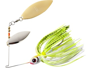 BOOYAH Blade Double Willow Spinnerbait 1/2oz Chartreuse White Shad Nickel/Gold