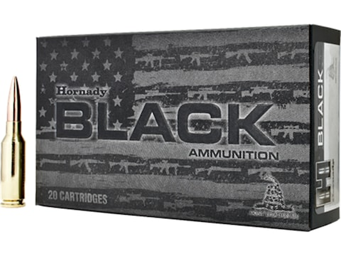 Hornady Black Ammunition 6mm ARC 105 Grain Hollow Point Boat Tail Match Box of 20