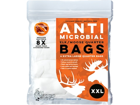 Koola Buck Anti-Microbial Game Meat Bag XXL Synthetic Blend Pack of 4