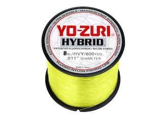 Yo-Zuri Hybrid  Fluorocarbon Fishing Line 8lb 600yd High-Vis Yellow
