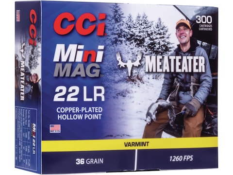 CCI Mini-Mag MeatEater Special Edition Ammunition 22 Long Rifle 36 Grain Plated Lead Ho...