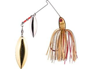 Strike King Bleeding Bait Double Willow Spinnerbait 1/2oz Bleeding Gold Shiner Nickel/Gold