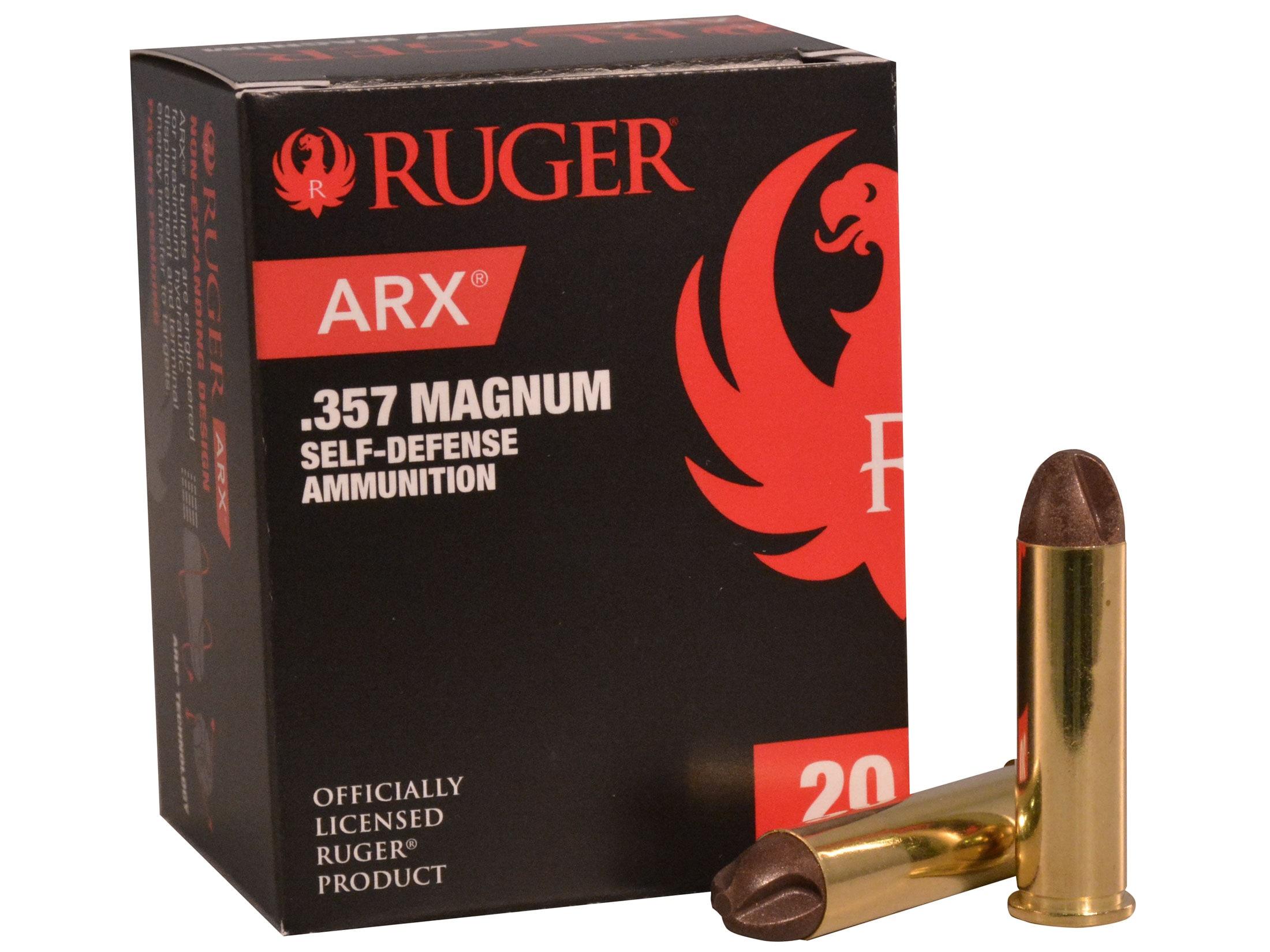 Ruger Self Defense Ammo 357 Mag 86 Grain Frangible PolyCase ARX