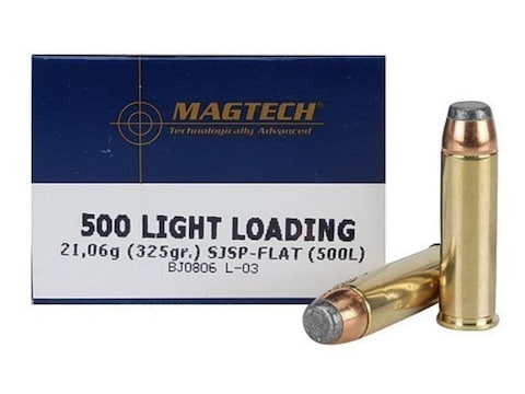 Magtech Sport Ammunition 500 S&W Magnum 325 Grain Light Loading Semi Jacketed Soft Poin...