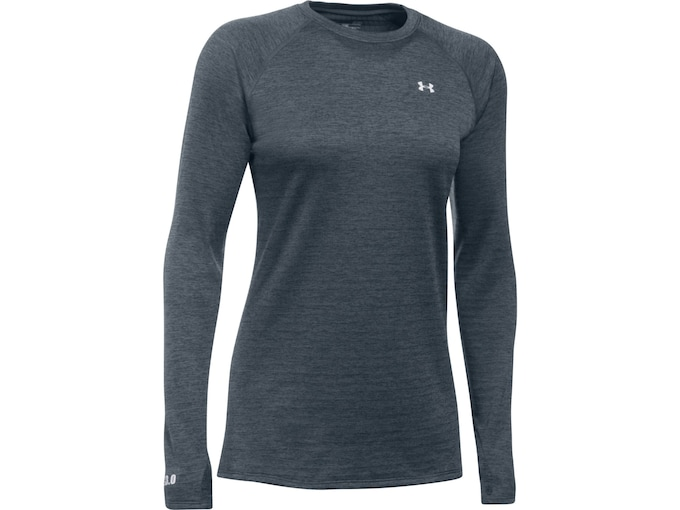 Under Armour Women's UA Base 3.0 Crew Base Layer Shirt Long Sleeve Polyester