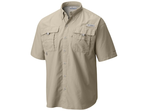 Columbia Men's PFG Bahama II Button-Up Short Sleeve Shirt Nylon
