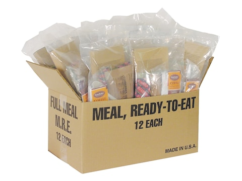 Military Ration Company The Basic MRE (Meal, Ready to Eat) Assorted Food Menu Case of 1...