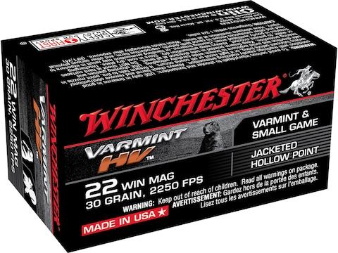 Winchester Supreme Ammunition 22 Winchester Magnum Rimfire (WMR) 30 Grain Jacketed Holl...