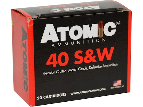 Atomic Ammunition Ammunition 40 S&W 155 Grain Jacketed Hollow Point Box of 20