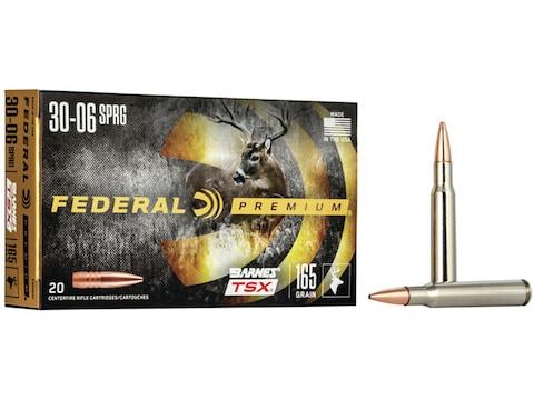 Federal Premium Ammunition 30-06 Springfield 165 Grain Barnes TSX Box of 20