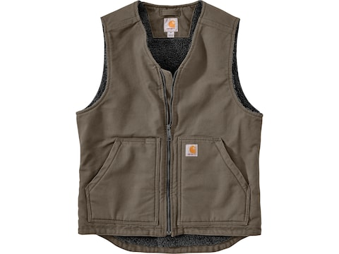 Carhartt Men's Washed Duck Sherpa Lined Vest