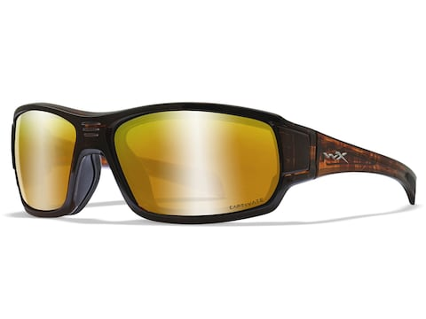 Wiley X Breach Polarized Sunglasses Matte Hickory Brown Frame/Captivate Bronze Mirror Lens