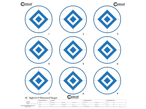 """Caldwell 9 Diamond 16"""" Sight-In Target Pack of 10"""