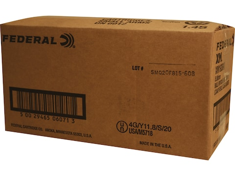 Federal American Eagle Ammunition 5.56x45mm NATO 55 Grain XM193 Full Metal Jacket Box o...