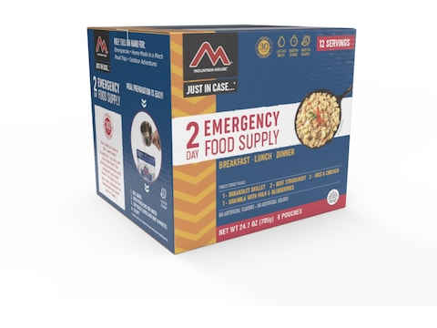 Mountain House Just in Case 2-Day Emergency Kit Freeze Dried Food 15 Serving