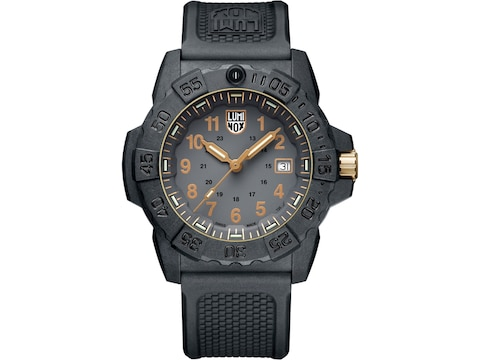 Luminox Navy Seal Watch Carbon Compound Case/Rubber Band Gold/Black
