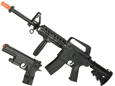 Colt M4A1 & 1911 Spring Powered Airsoft Rifle & Pistol Kit