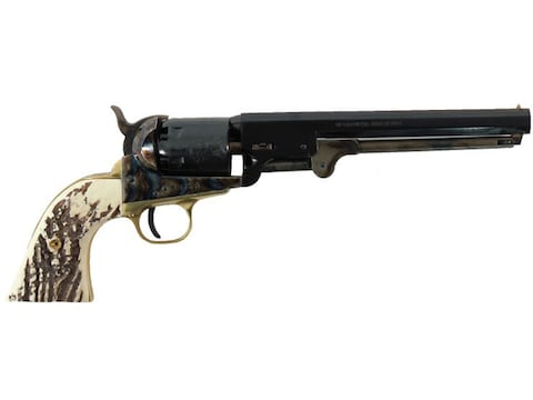 "Traditions Wildcard Black Powder Revolver 36 Caliber 7.375"" Blued Barrel Blued Frame St..."