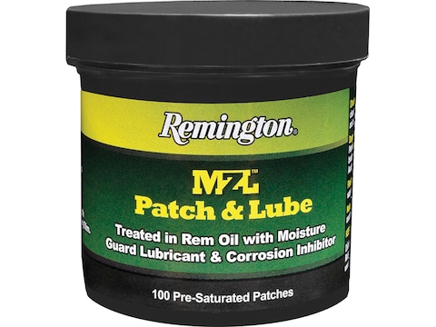 """Remington MZL Patch & Lube 2.25"""" Pre-Saturated Patches Pack of 100"""