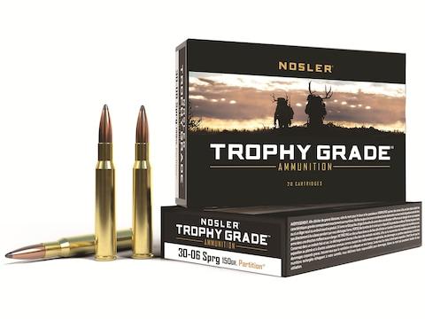 Nosler Trophy Grade Ammunition 30-06 Springfield 150 Grain Partition Box of 20