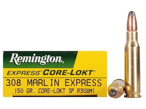 Remington Express Ammunition 308 Marlin Express 150 Grain Core-Lokt Soft Point Box of 20