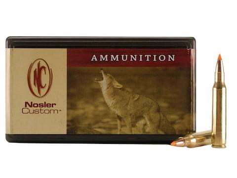 Nosler Custom Ammunition 222 Remington Magnum 50 Grain Ballistic Tip Varmint Box of 50