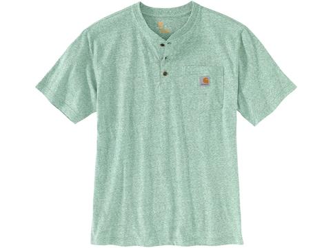 Carhartt Men's Workwear Pocket Henley Short Sleeve T-Shirt Cotton