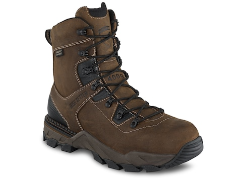 "Irish Setter Crosby 8"" Non-Metallic Safety Toe 400 Gram Insulated Work Boots Leather Men's"