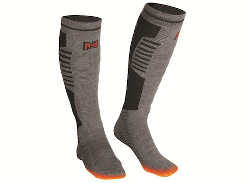 Mobile Warming Men's Premium BT Heated Socks Cotton/Nylon Gray