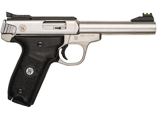 """Smith & Wesson SW22 Victory Pistol 22 Long Rifle 5.5"""" Barrel 10-Round Stainless"""